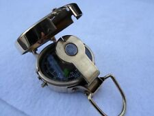 Brass Military Lensatic Compass ~ Deluxe Model ~ Army Engineer Pocket Style