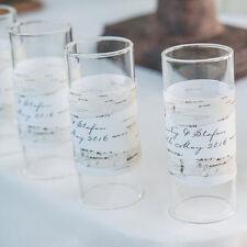 48 Birch Bark Personalized Mini Tealight Luminaries Candle Wedding Favors