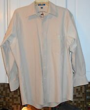 G.H. Bass & Co. WeeJun Oxford~Beige Tan~Size 16-1/2 32 33~Long Sleeve Button