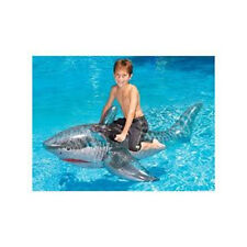"NEW Swimline 72"" Inflatable Pool Shark 9045 Kids Pool Water Beach Ride On"