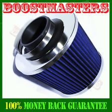 """Cold Air Intake Filter Turbo Application Universal for cars trucks   2.5"""" Blue"""