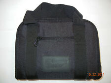 "Black Pistol Handgun Firearm Padded Soft Case Bag Magazine Pockets 12"" X 9"""