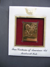 Rembrandt  Peale 22kt Gold Golden Cover First Day Issue Replica FDC FDI Stamp
