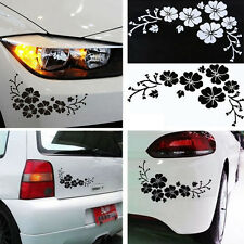Black/white Flower Vinyl Art Car Body Panel Graphics Badges Stickers Decal Decor
