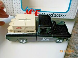 ERTL Ace Hardware 1955 Chevy Cameo Pickup Truck Bank, 1:25 Scale, 6th, see desc.