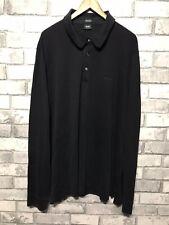 Mens Hugo Boss Long Sleeve Polo Black XL