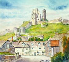 Corfe Castle, Dorset Giclee Print Signed High Quality From Original John Dimech