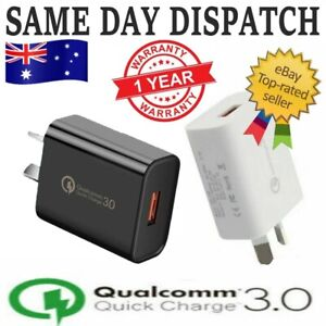 18W Qualcomm Quick Charge QC 3.0 Super Fast Universal USB Wall Charger AU Plug