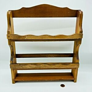 Vintage McCormick Wooden Spice Rack Three Tier Holds 12 Bottles Cottage Core