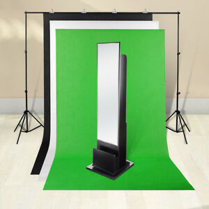 3 Backdrop 2x3m Stand Black White Green Photography Screen Muslin Background Kit