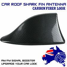Black Carbon Fiber Auto SUV Shark Fin Antenna Roof Radio Aerials Delicate Face