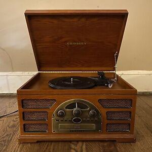 Crosley Vinyl Record Radio CD Player Wood Frame Model CR66