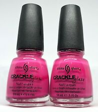 China Glaze Crackle Nail Polish  Broken Hearted 982 Hot Pink Shatter Lacquer