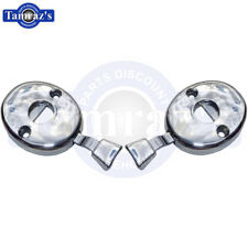 for 70-72 GM models Headrest Post Lock Release Chrome Escutcheon Assembly Pair