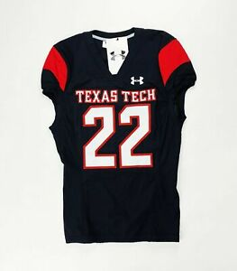 Under Armour Texas Tech Raiders Gameday Football Jersey Men's M Black Red #22
