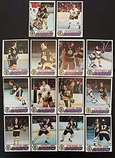 (14) 1977-78 Topps Boston Bruins Team Lot, Ratelle, Cheevers, +
