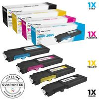 LD © 4pk Comp Toner for Dell C2660dn C2665dnf Black Cyan Magenta Yellow RD80W