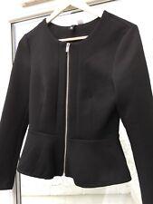 H&M Black Peplum Jacket - Size 12 - Excellent Condition