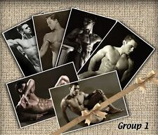 "6 Vintage Nude Bodybuilder Beefcake Prints Gay Interest Reproductions 4 ""X 6"""