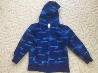 NWT Gymboree Turbo Charged Size S 5-6 Black Flame Sleeve Hoodie Sweatshirt
