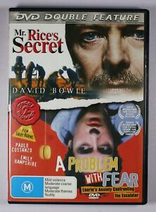 Mr Rices Secret / A Problem With Fear DVD Double Feature FREE POST