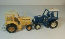 Britains Vintage 1993 Diecast Turbo Farm Tractors x2 Yellow and Blue