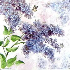 4x Paper Napkins for Decoupage Decopatch Craft - Lilac flower