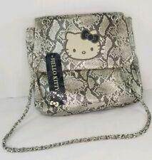 a5fe66ead Hello Kitty Gray Faux Snake Skin Chain Strap Crossbody Purse Gray/White