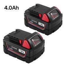 M18 XC 18V 4.0AH Li-ion Battery x 2  for Milwaukee Power Tools 48-11-1820 48-11-