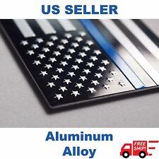 3D ALUMINUM Police Officer Thin Blue Line American Flag Decal Sticker Emblem