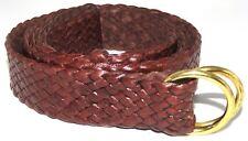 Longreach Hand Plaited 11 plait Kangaroo Leather Belt - Handcrafted in Australia