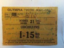 RARE ORIGINAL FRENCH STUB TICKET CONCERT PARIS OLYMPIA TOM JONES DONOVAN 1965