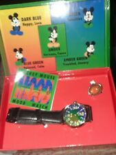 VTG The Walt Disney, Mickey Mouse Mood Watch An RING WITH ORGINAL BOX. NOS.