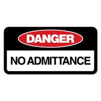 Danger No Admittance Sticker Decal Safety Sign Car Vinyl #7654NM