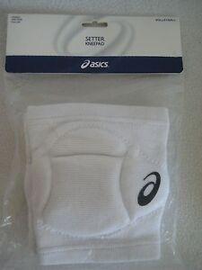 Asics Setter Knee Pads White Sports Volleyball 7 Inch Setter Kneepad Lightweight