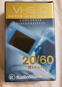 RADIOSHACK VHS-C SUPER HIGH GRADE CAMCORDER VIDEO CASSETTE Tape 20/60