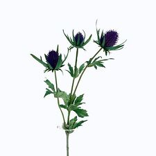 Thistle Spray Artificial 66cm/26 Inches Purple