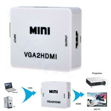 HD VGA + Audio To HDMI Composite Converter LCD 1080p A/V Video Adapter PC HDTV