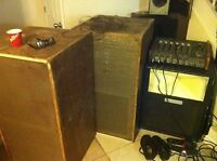 leslie model 255 organ speaker and amp,15 inch woofer and rotary horn untested