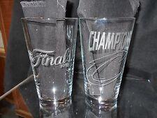 2016 NBA FINALS CHAMPION CLEVELAND CAVALIERS ETCHED 16 oz PINT PUB GLASSES NEW