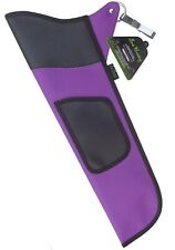 TRADITIONAL FINE FABRIC SIDE HIP ARROW QUIVER ARCHERY PRODUCTS FAQ-111 PURPLE
