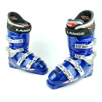 Lange L10 Race Fit Blue Ski Boots Men's Size 8 US 323mm (Lightly Used Condition)