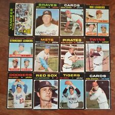 1971 topps baseball partial set lot 182 diff w/ 30 Hi #s 5 Munson & 530 Yaz