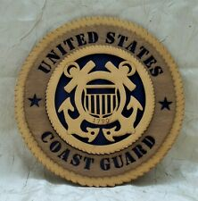 United States Coast Guard Wooden 3D Plaque Uscg Wall Hanging Sign