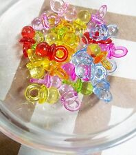 20 Pacifier Charms Baby Shower Favors Acrylic Pendants Assorted Lot