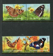 Cocos Islands 365-366, MNH, Insects Butterflies 2012. x23800
