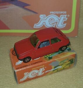 JET #27  Diecast GILLETTE ARGENTINA 1974 RENAULT 5 TS 1:64 with BOX