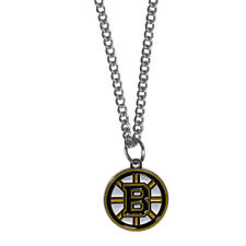 "Boston Bruins 22"" Chain Necklace Metal Logo NHL Licensed Hockey Jewelry"