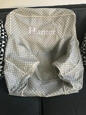 Pottery Barn Kids my first Anywhere Chair slip cover gray pin dot polka Hunter