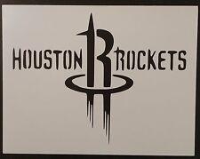 "Houston Rockets 11"" x 8.5"" Custom Stencil FAST FREE SHIPPING"